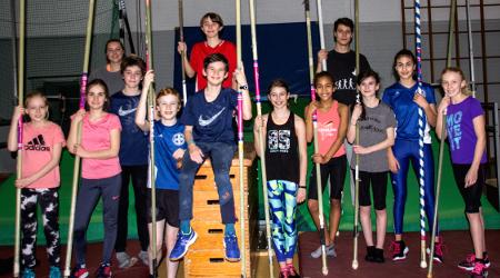 Die Testgruppe mit Marita Schulte (oben links)